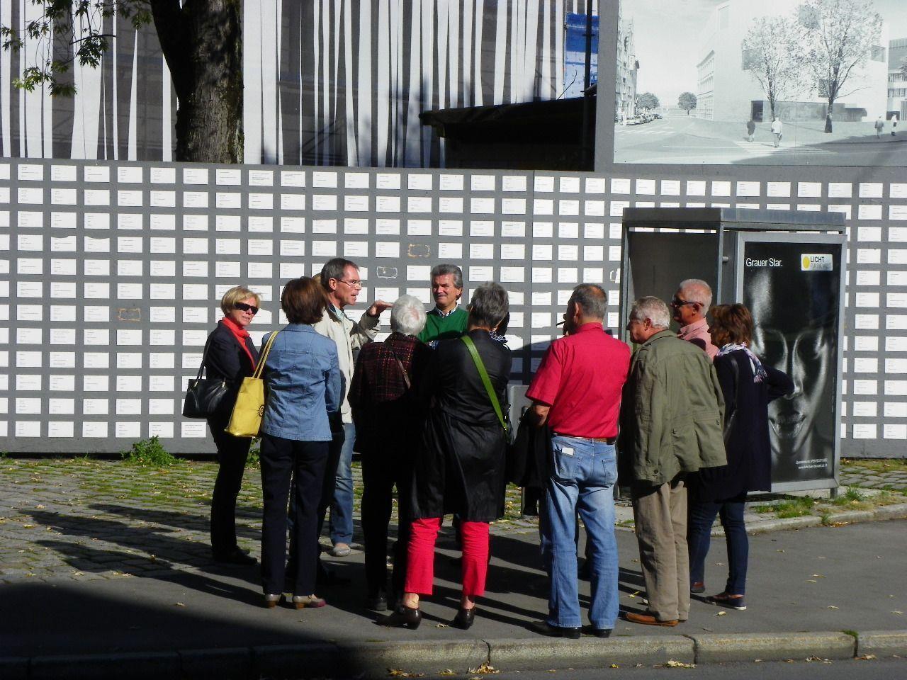 Gäste wurden über das neue vorarlbergmuseum informiert