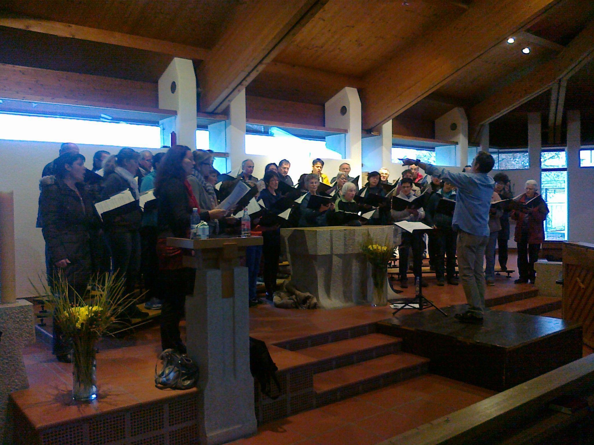 Der Chor St. Nikolaus bei der Generalprobe