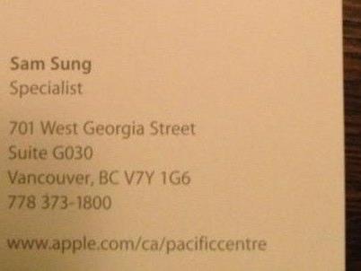 """Angeblich sind 17 Personen mit dem Namen """"Sam Sung"""" in Vancouver verzeichnet."""