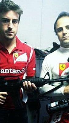 Alonso und Massa martialisch in Austin.
