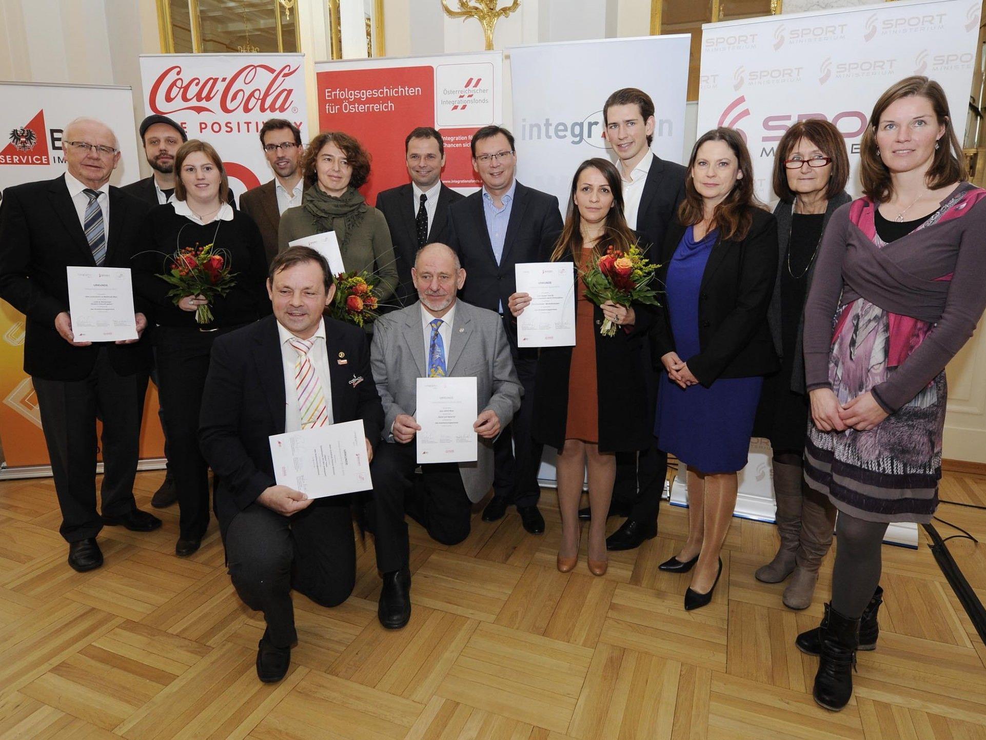 KC Lauterach und FC Tosters wurden in Wien ausgezeichnet.