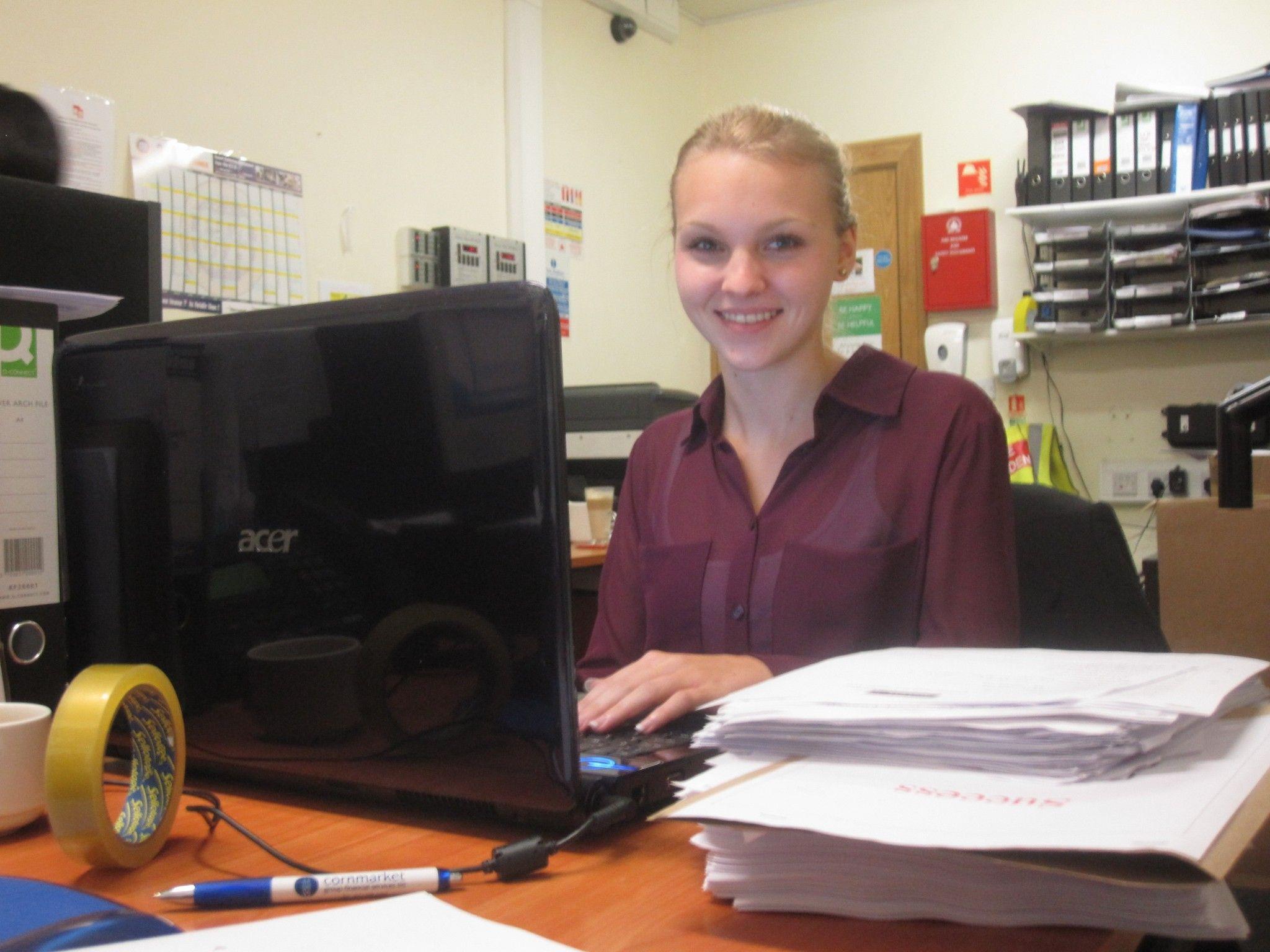Anna-Lena at work