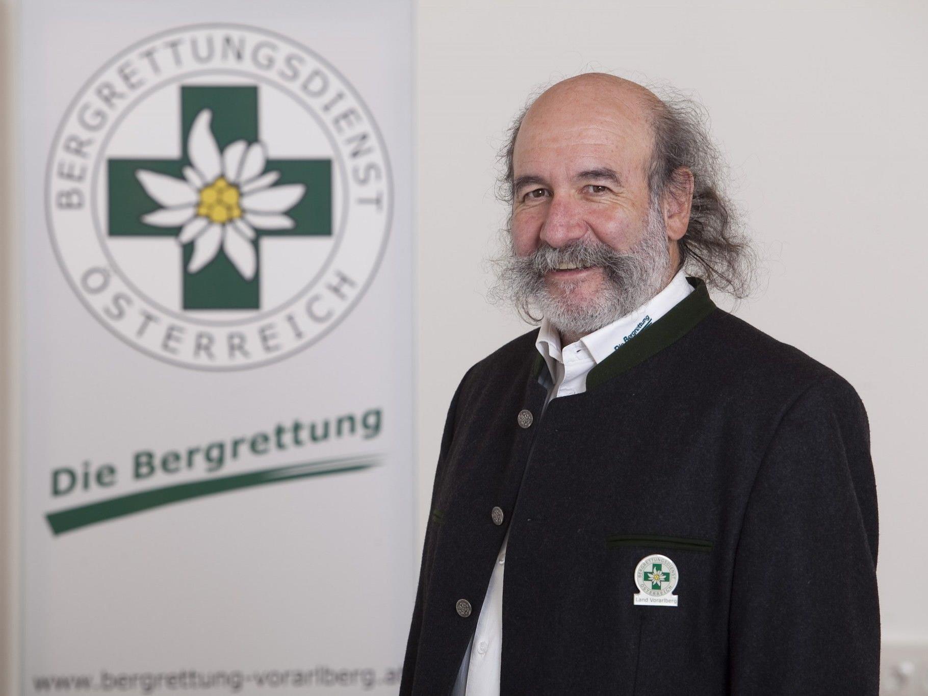 Gebhard Barbisch Präsident für Bodenrettung bei der IKAR und Landesleiter der Bergrettung Vorarlberg