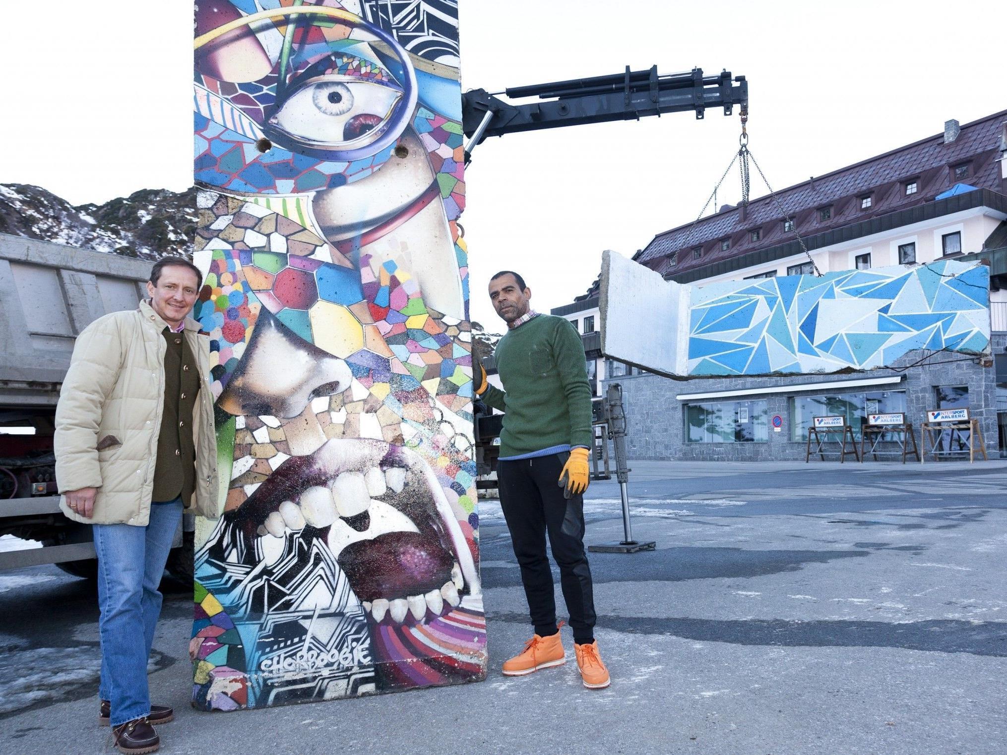 Kunstquartier-Initiator und Hotelier Florian Werner mit Patrice Lux von der LuxPopArt Group freuen sich über die Kooperation.
