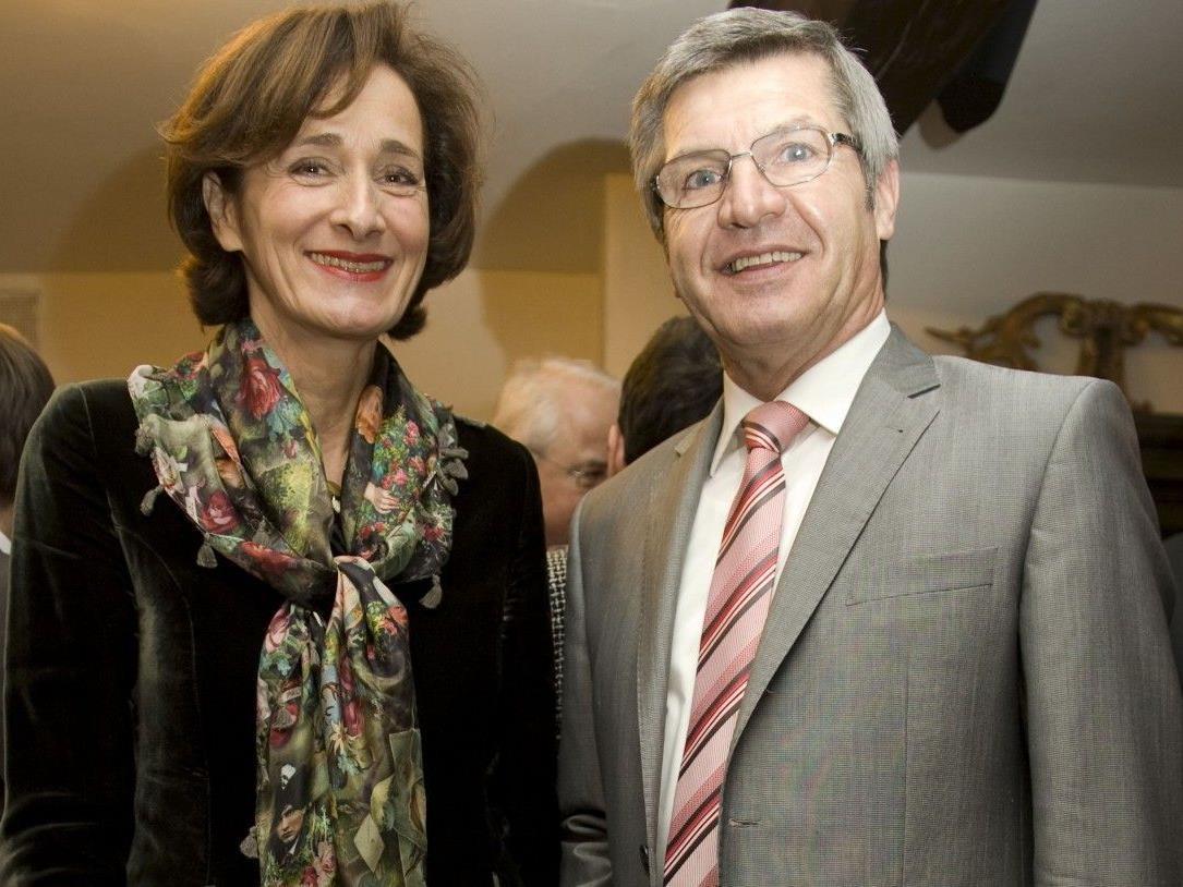 Bernadette Mennel mit Siegi Stemer