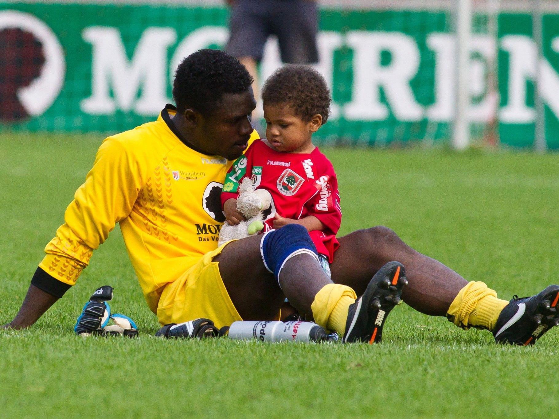 Edwin-Joshua Ndybisi, Torhüter beim FC Mohren Dornbirn.