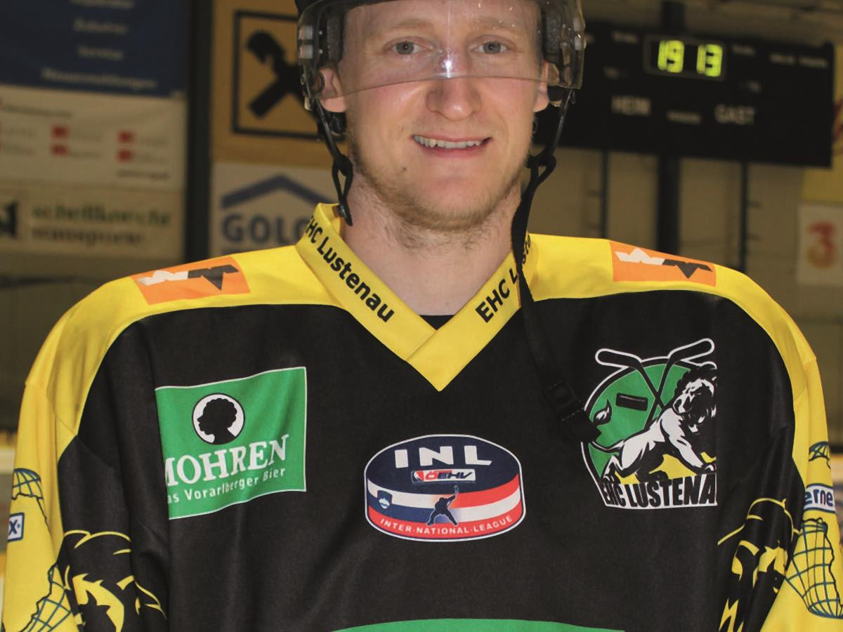 Der Schwede David Printz spielt nicht in Lustenau, sondern beim EBEL-Klub EC Dornbirn.