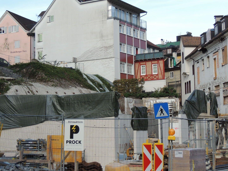 Baulücke wird geschlossen  Baufortschritt