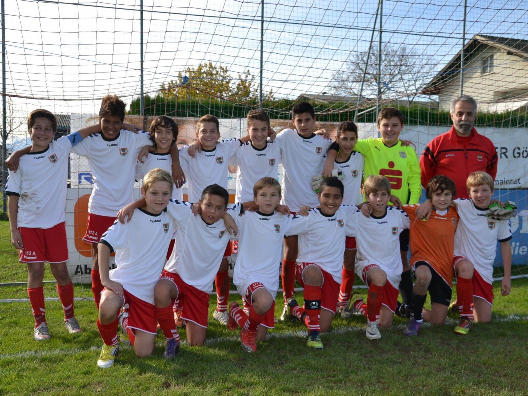 Die U13 des FC Dornbirn präsentiert sich als stolzer Herbstmeister.