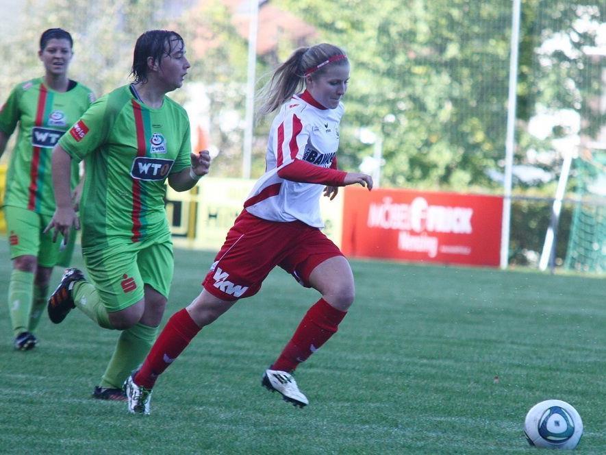 Rankweil Spielerin Stefanie Schilcher traf mit einer schönen Direktabnahme zum 2:1