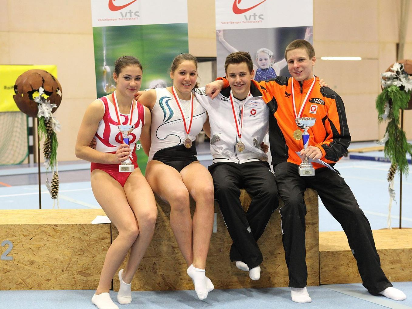 Favoritensiege gab es bei den landesweiten Titelkämpfen im Kunstturnen in Hohenems.