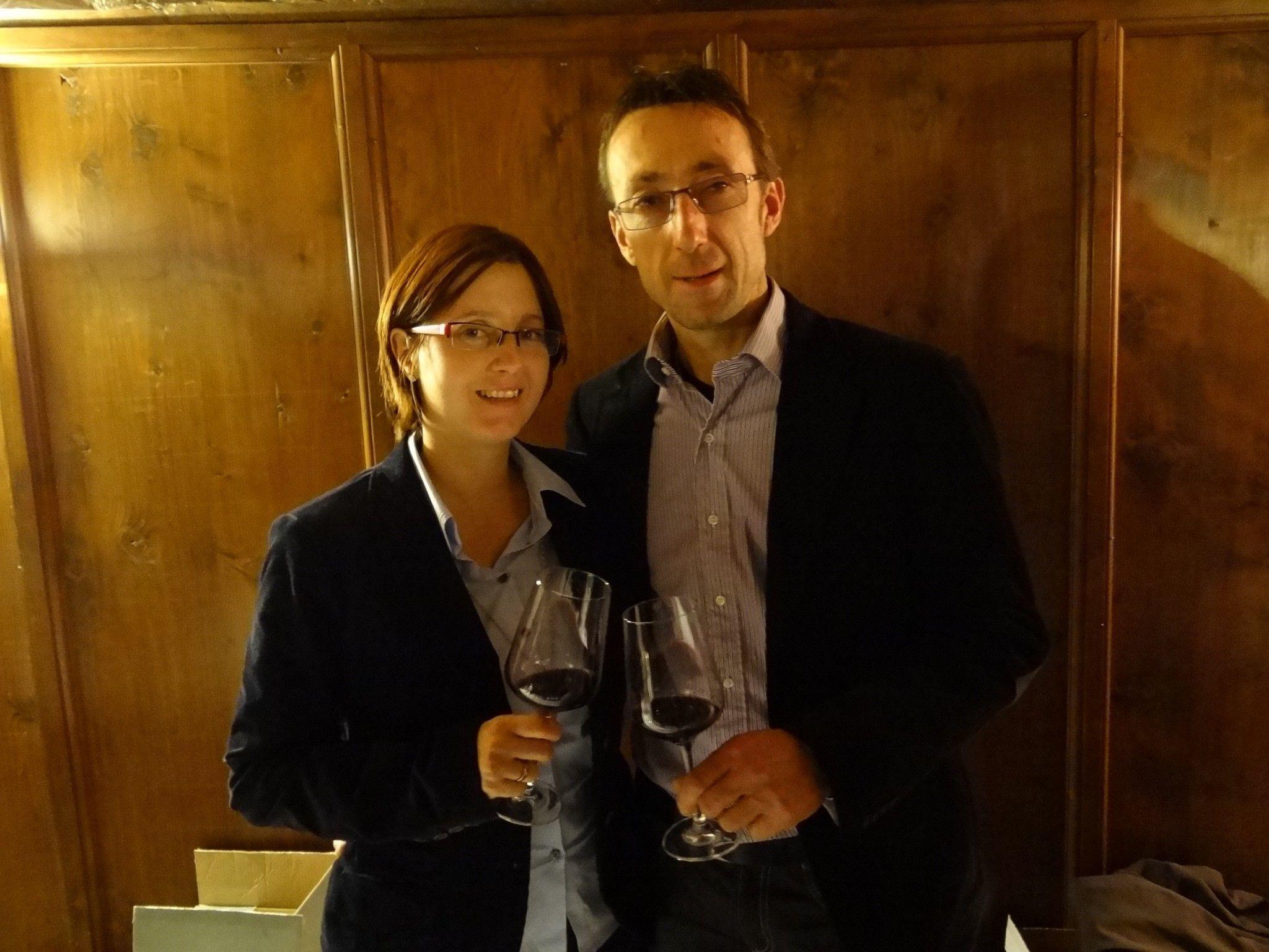 Emma & Hannes Steurer vom Weingut HST aus dem Burgenland waren zu Besuch im Götzner Jonas Schlössle