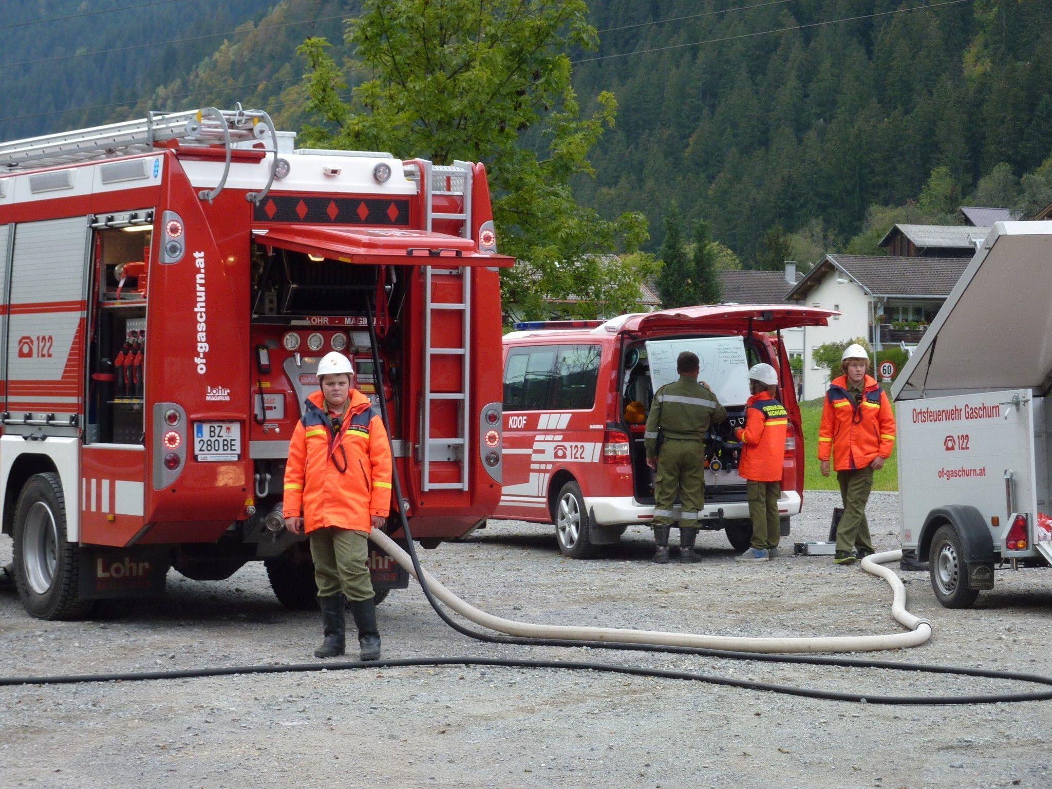 Die Feuerwehrjugend stellte ihr Können unter Beweis.