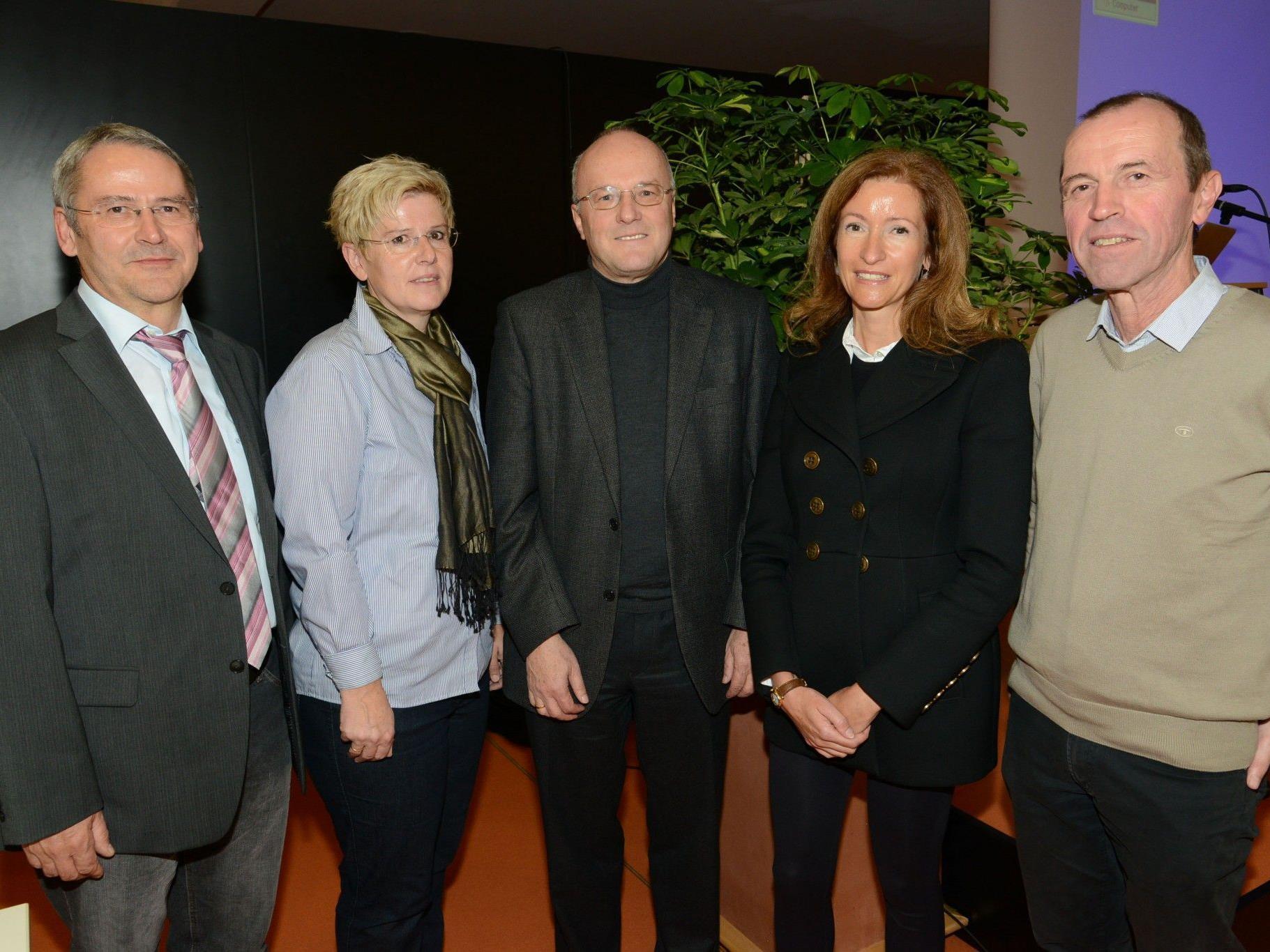 Peter Hutter, Kriehmhild Büchel-Kapeller, Reinhard Haller, Nadja Rhomberg, Thomas Mittelberger.