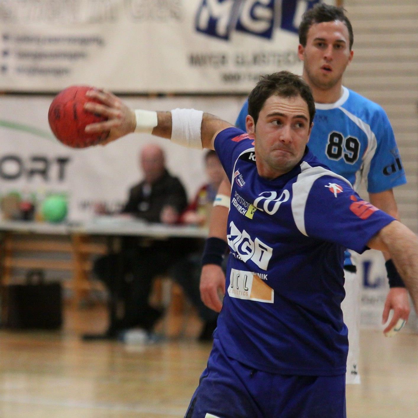 Philipp Franz war mit neun Treffern der beste Torschütze für die Feldkircher Handballer.