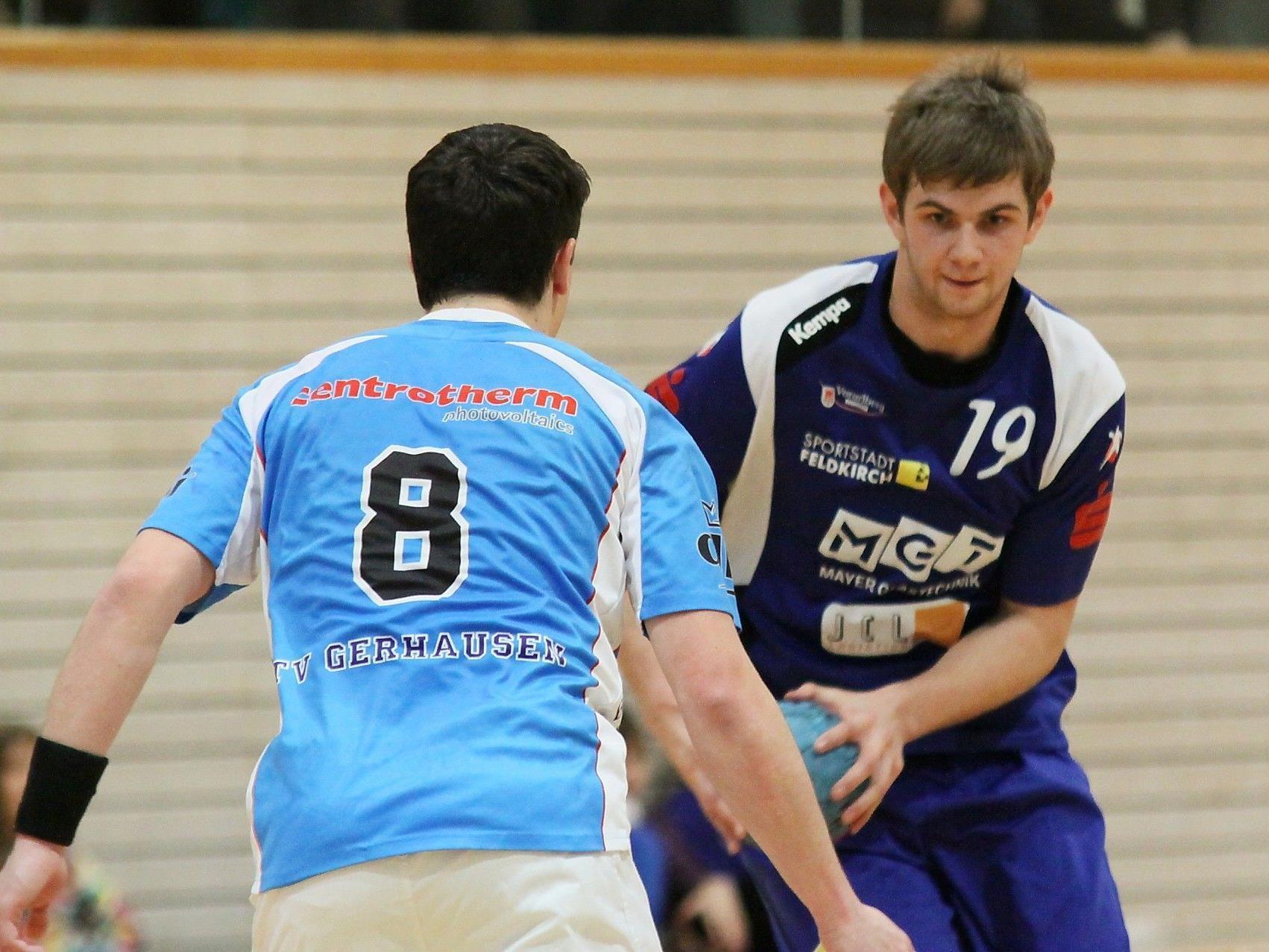 Zwei schwere Gegner innert 24 Stunden wartet auf die Feldkircher Handballer.