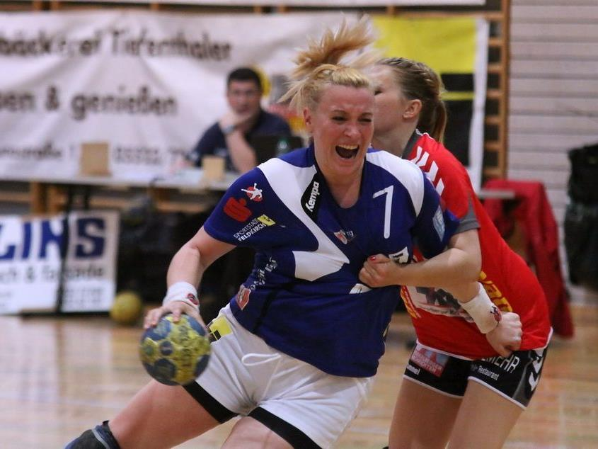 Martina Strmsek warf elf Tore für die Feldkircher Handballdamen.