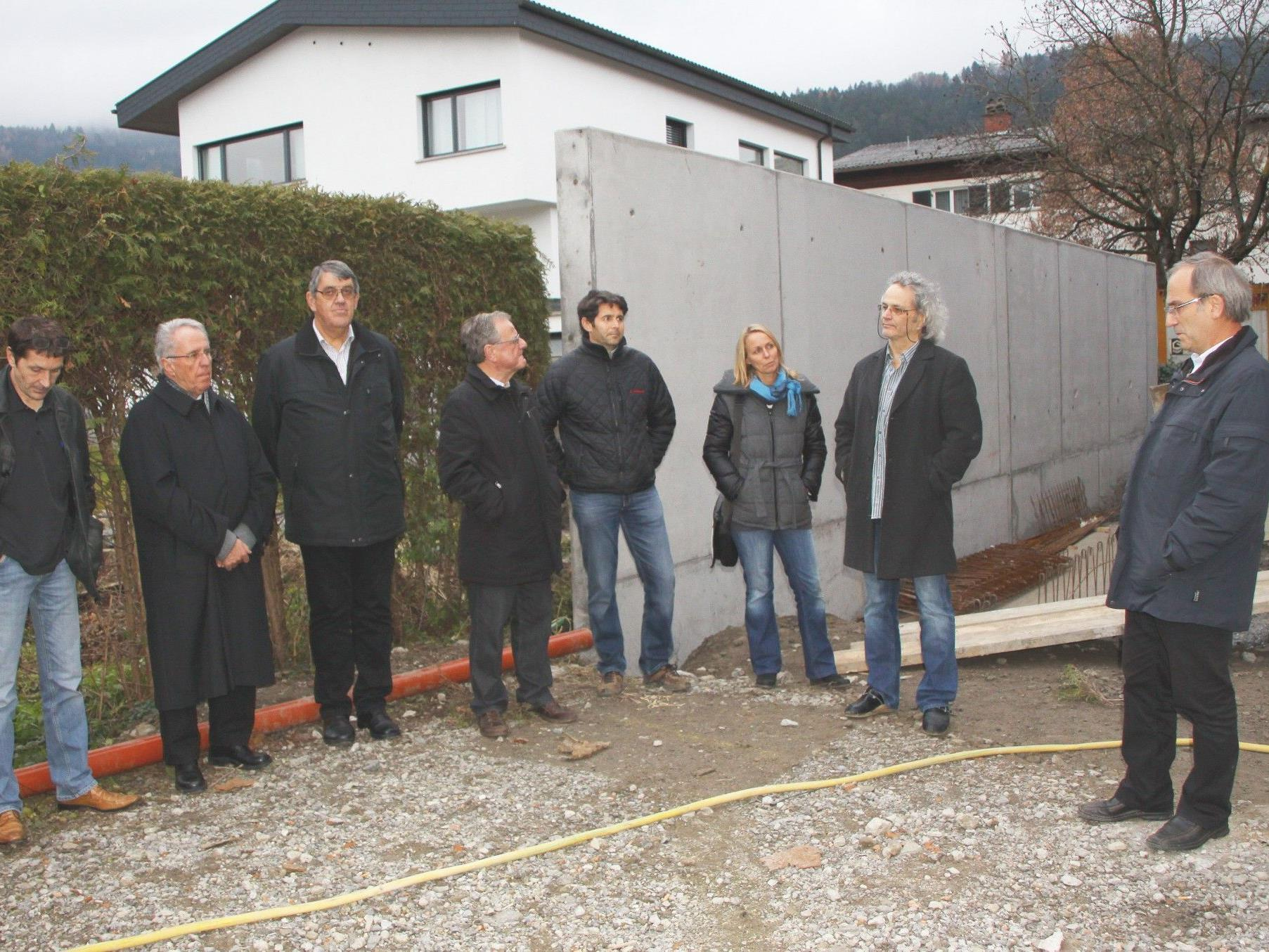 Firstfeier am Haus Moser