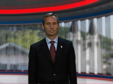 Dr. Georg Hoblik gibt im Ländle TV - DER TAG Studio Auskunft über die Highlights im Montafon