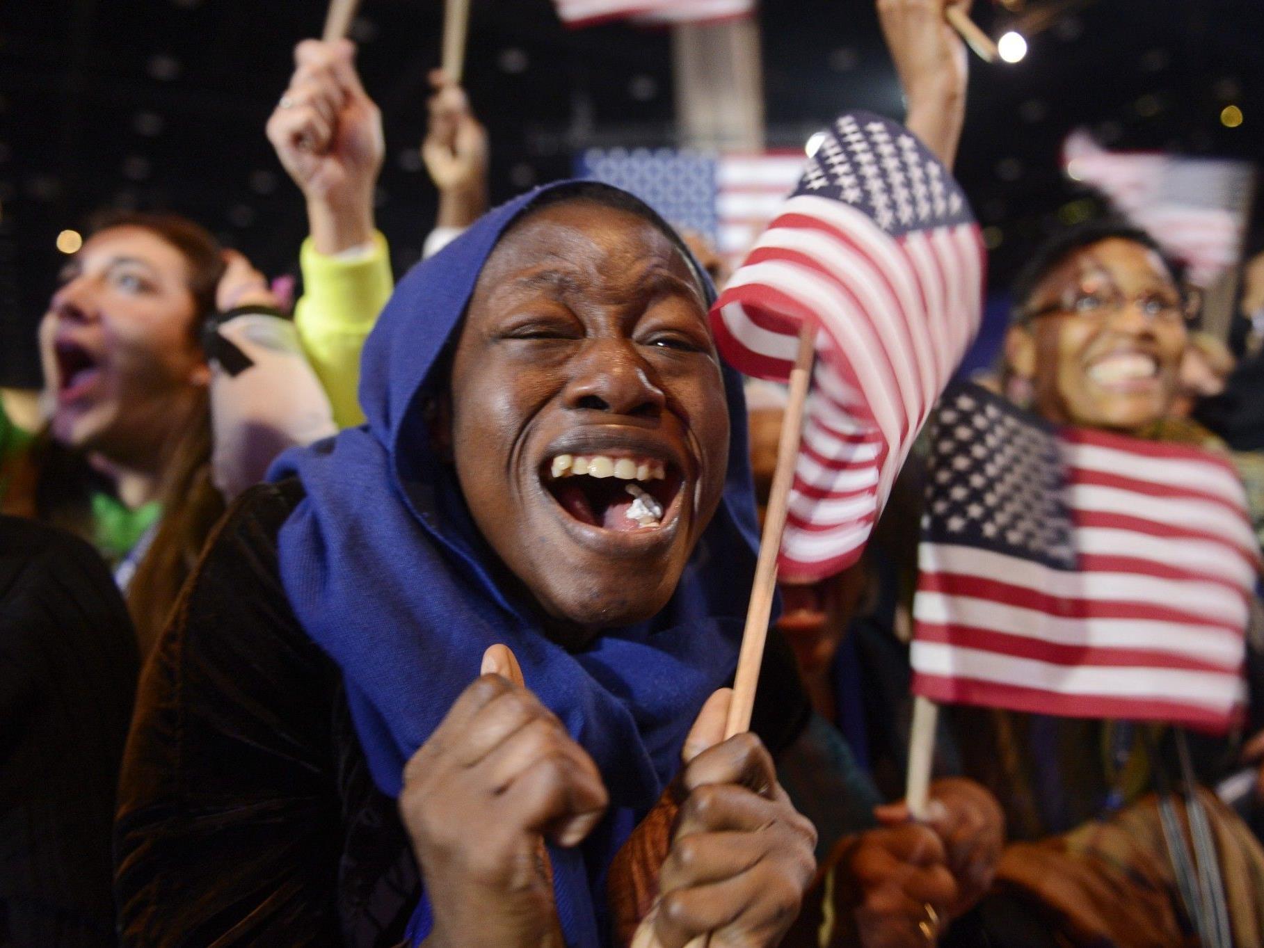 TV-Sender: Obama als US-Präsident wiedergewählt.