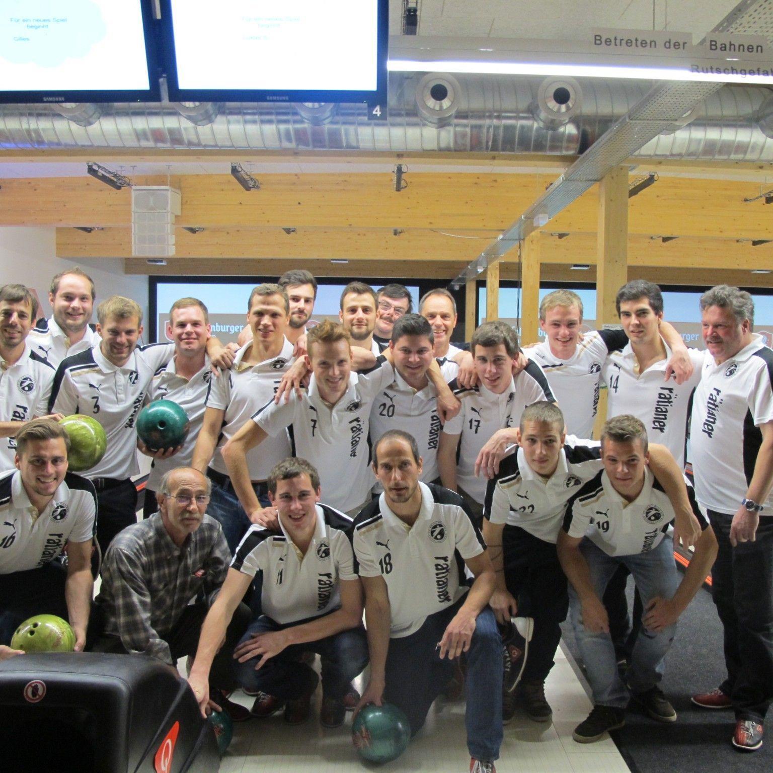 Bowling beim Hauptsponsor im Fohren Center stand für die Rätia-Kicker für einmal auf dem Programm.
