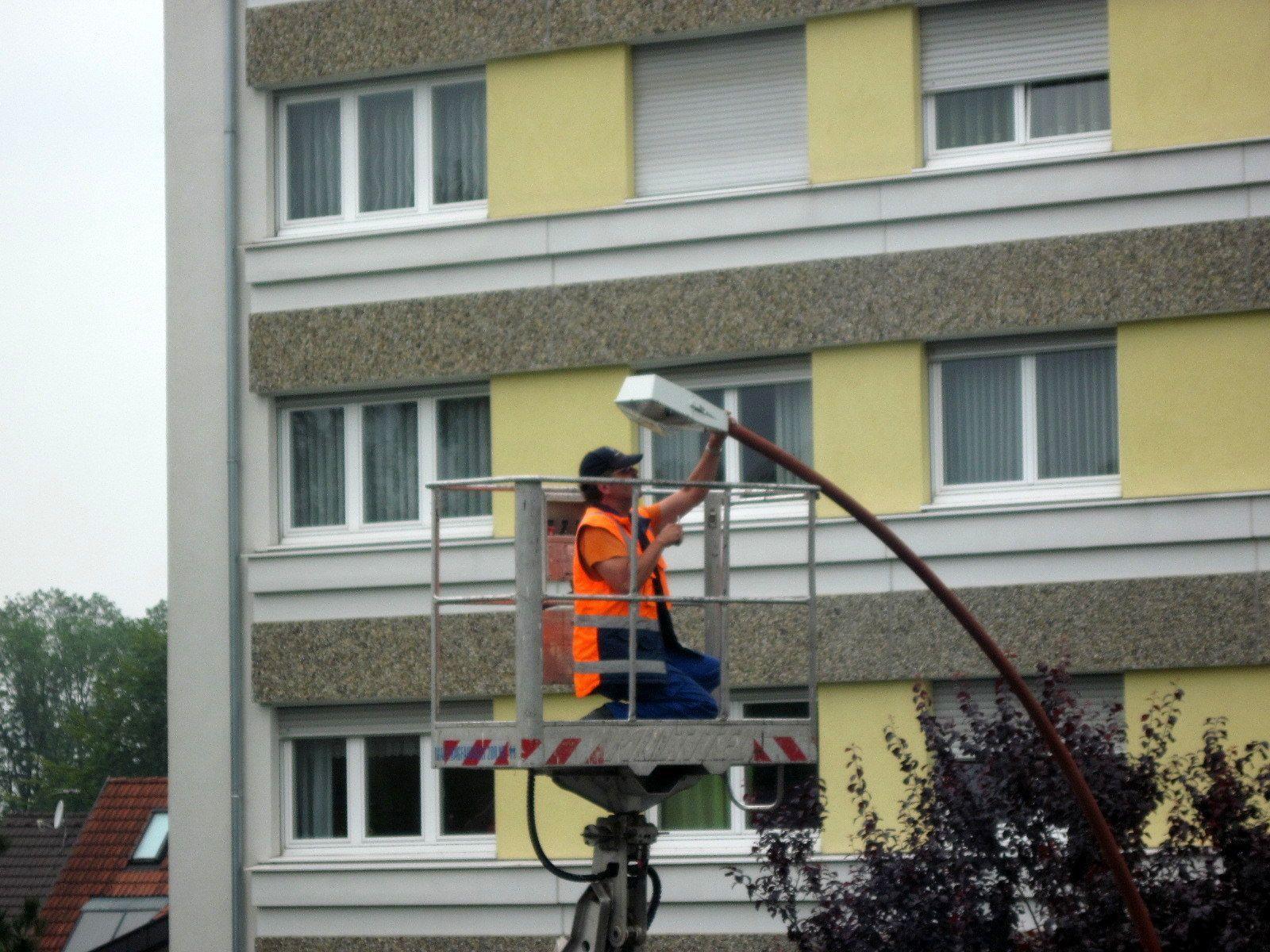 Moderne  Beleuchtung für Bregenzer Straßen