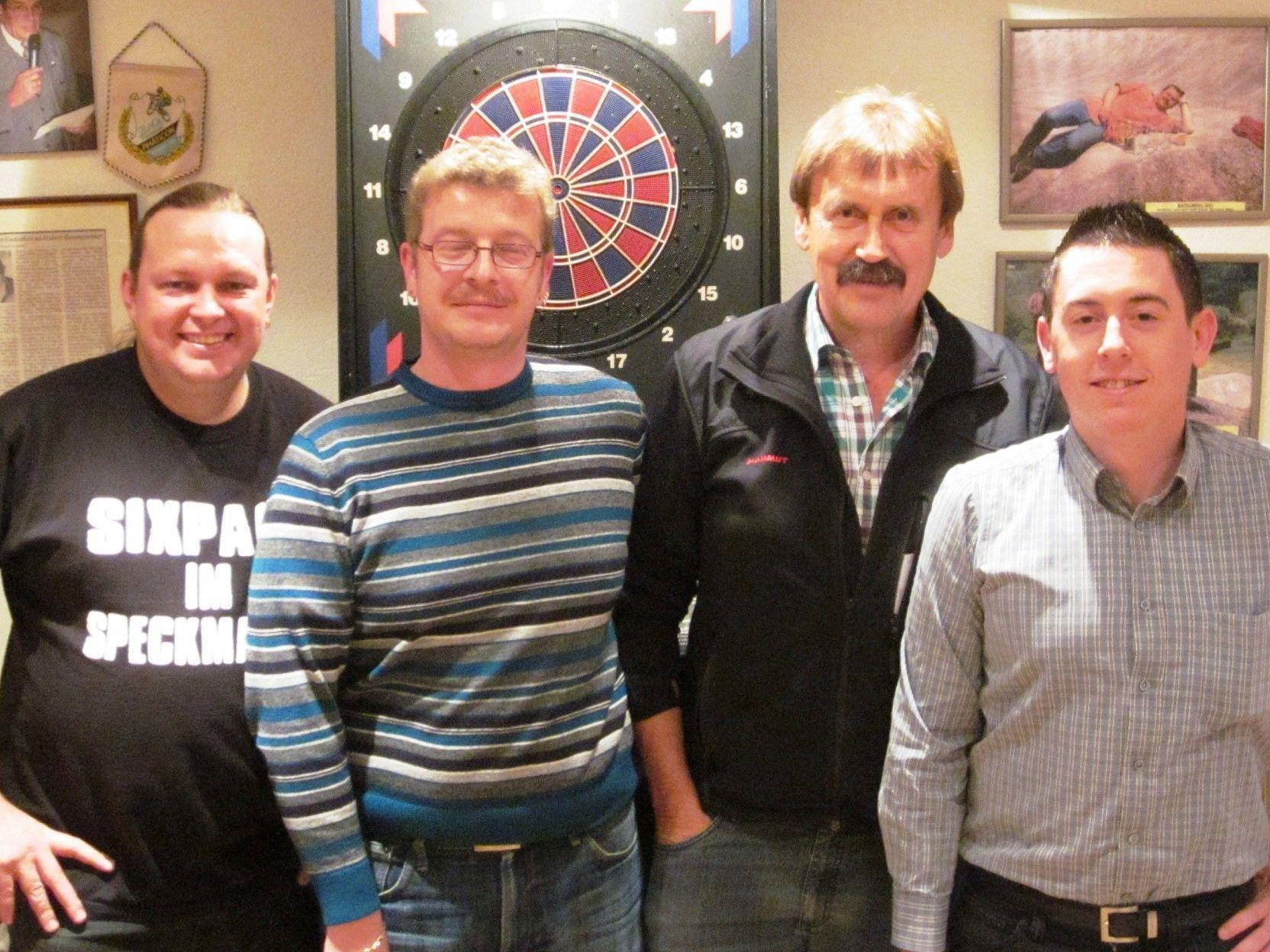 v.l. Markus Burtscher (3.), Champion Stefan Peschl, Herbert Dür (2.), u. WSG-Obmann Mark Lamprecht;