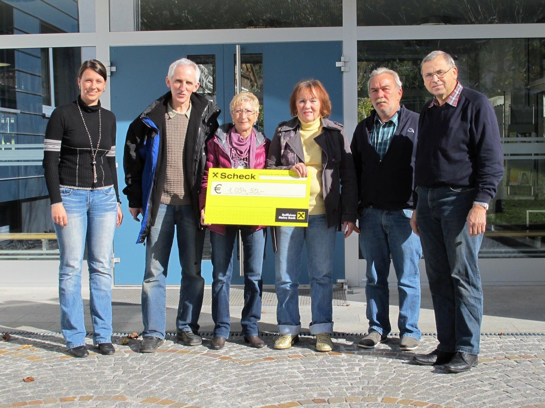 von links: Julia Mangeng, Elmar Stüttler, Monika Sartori, Inge Dobler, Heinz Scheider, Alois Kegele