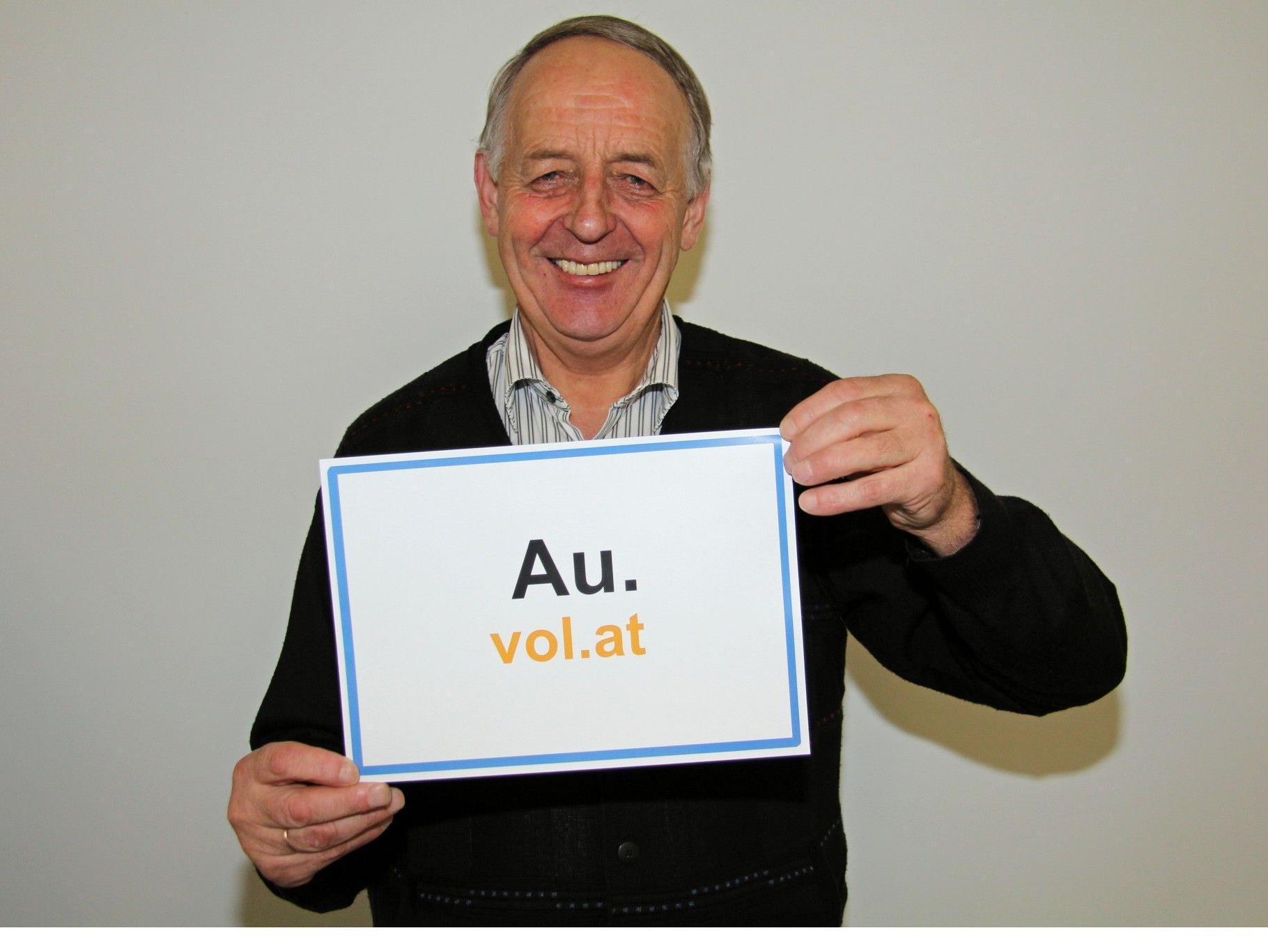 Pius Natter, Bürgermeister von Au, hat gut lachen.