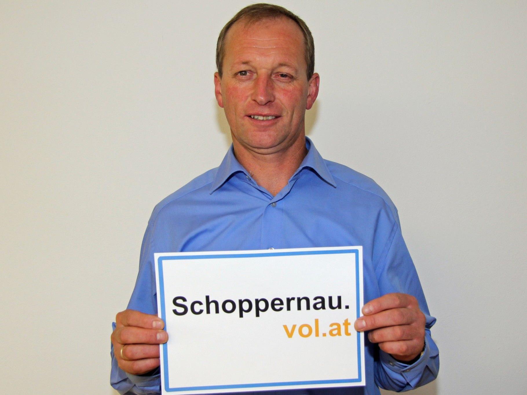 Walter Beer, Bürgermeister von Schoppernau, im Interview mit VOL.AT