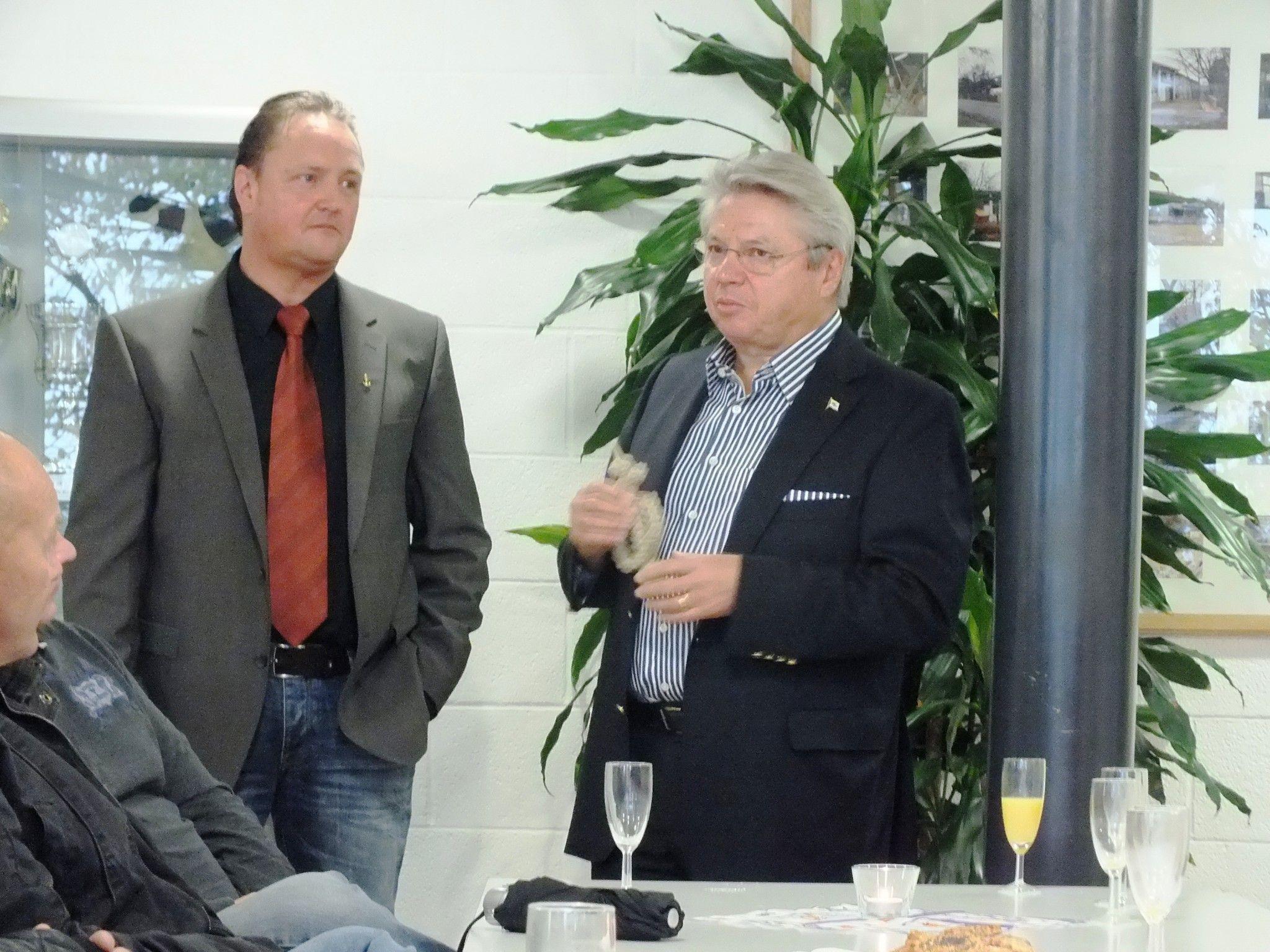 Präsident Willi Slappnig und GF Konrad Frommer (v.l.)