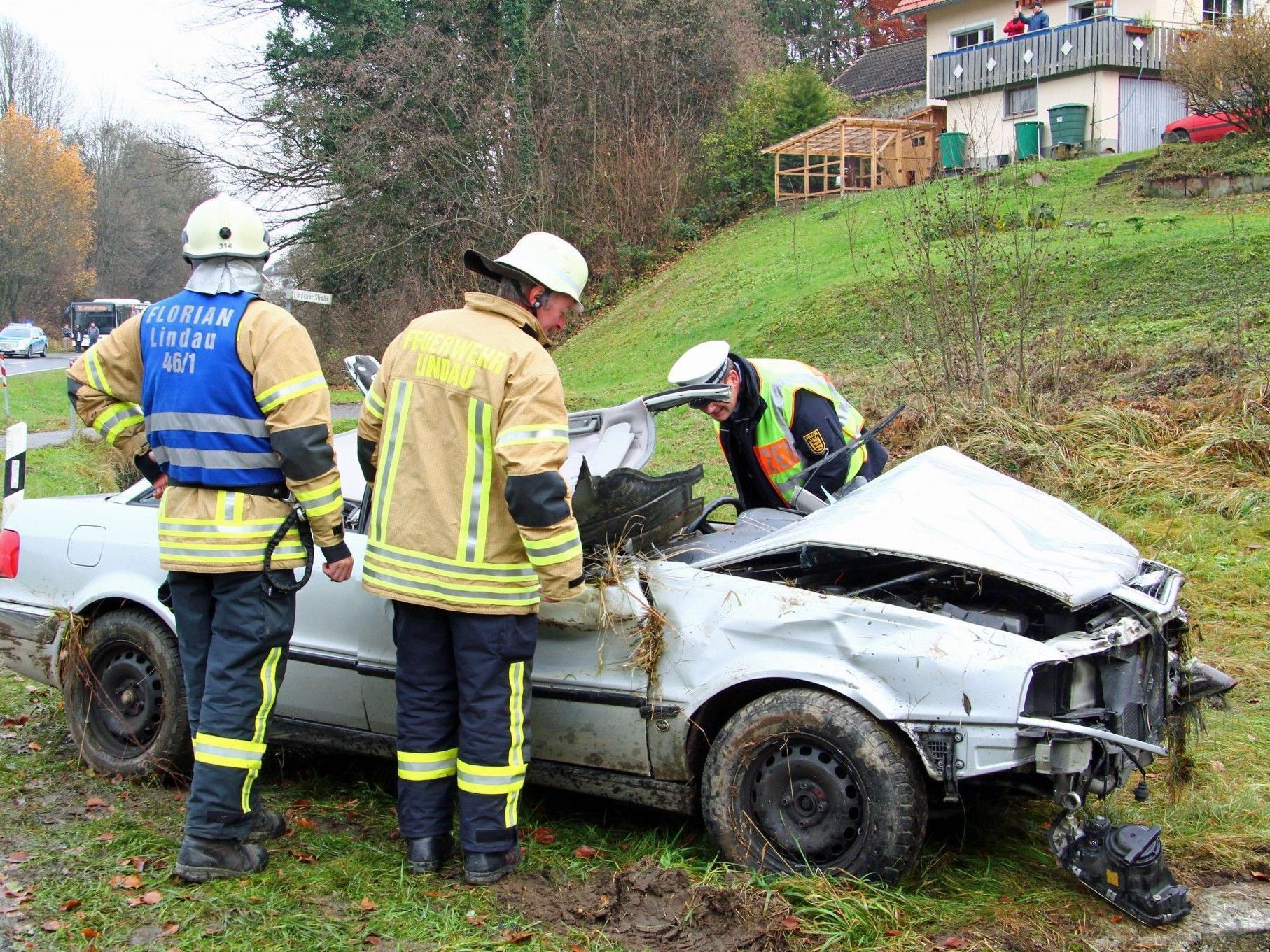 Schwerer Verkehrsunfall in Lindau.