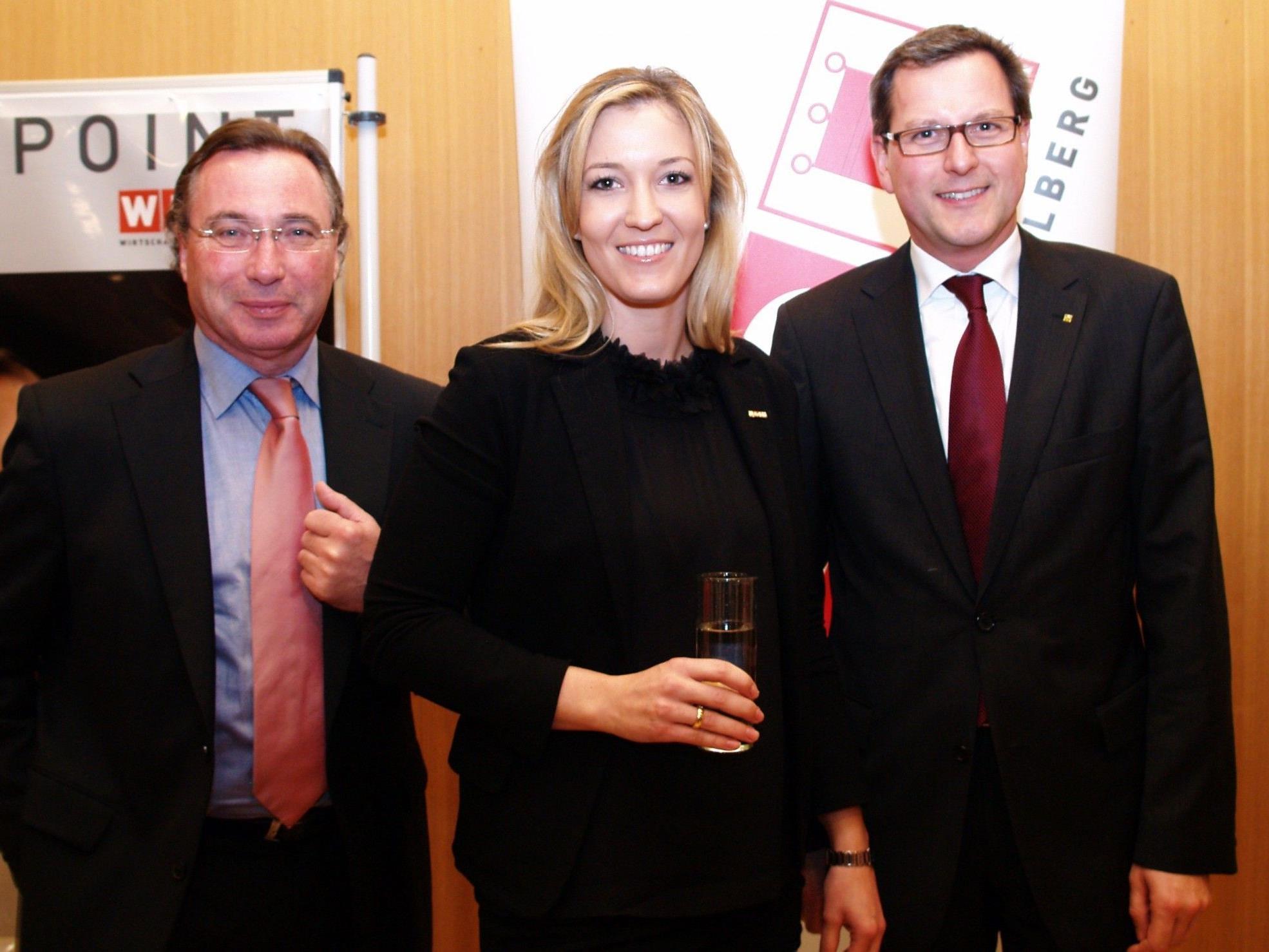 Helmut Steurer, Evelyn Dorn und Johannes Ortner
