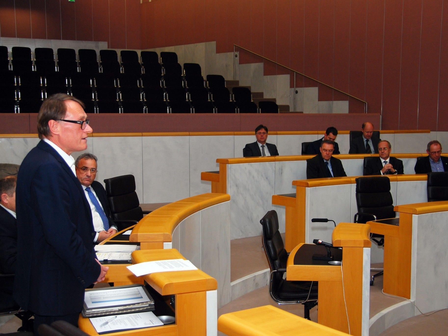 LT-Vizepräsident Ernst Hagen eröffnete das Parlamentariertreffen.