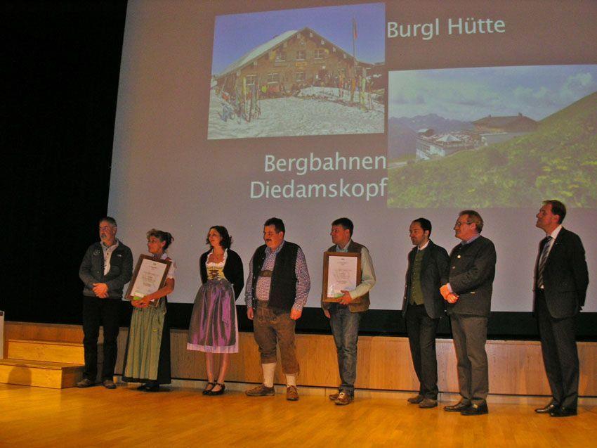 Kategorie Berggastronomie Urkunden Übergabe