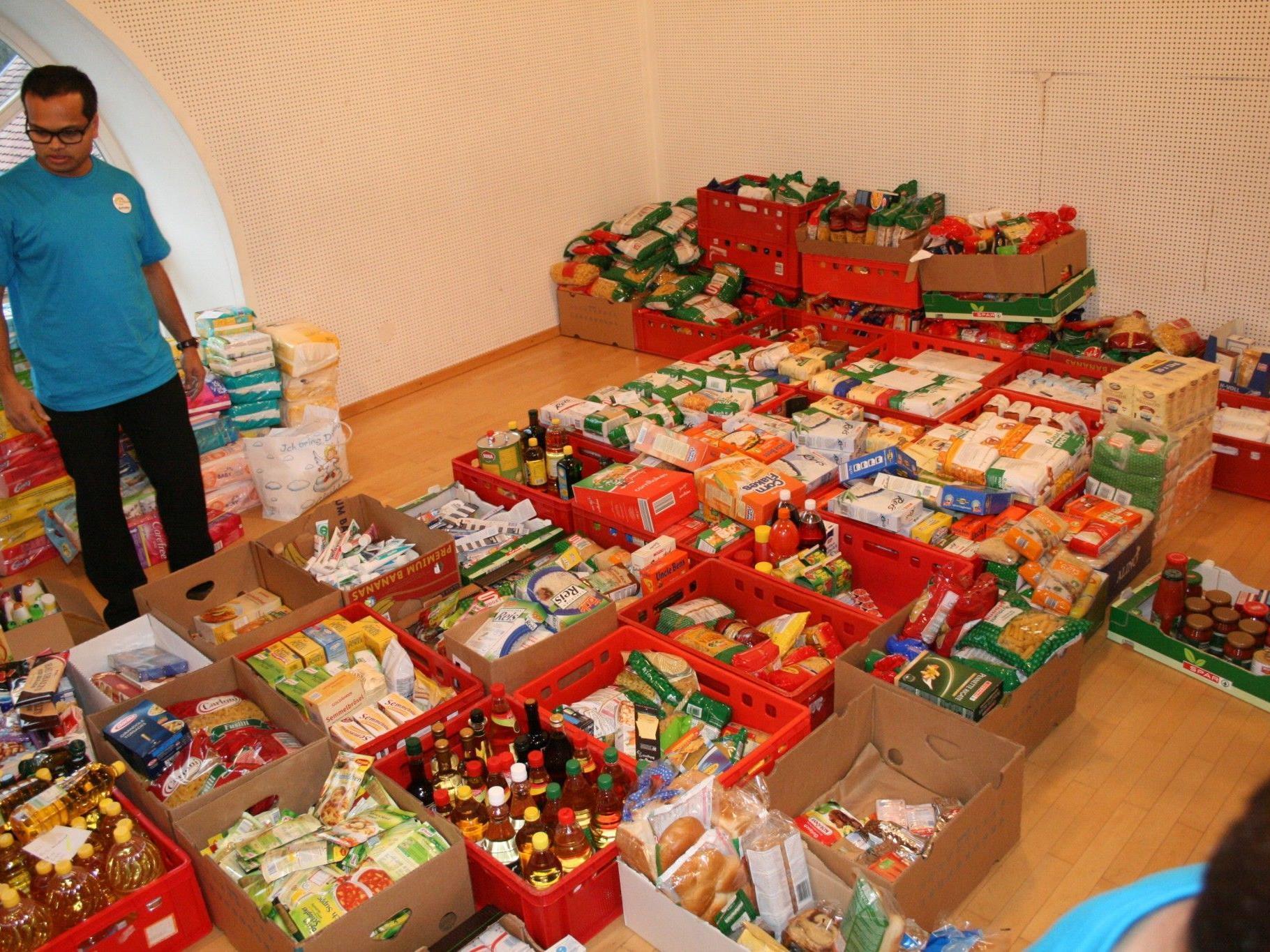 Mehrere hundert Kilo an Lebensmitteln wurden gesammelt.