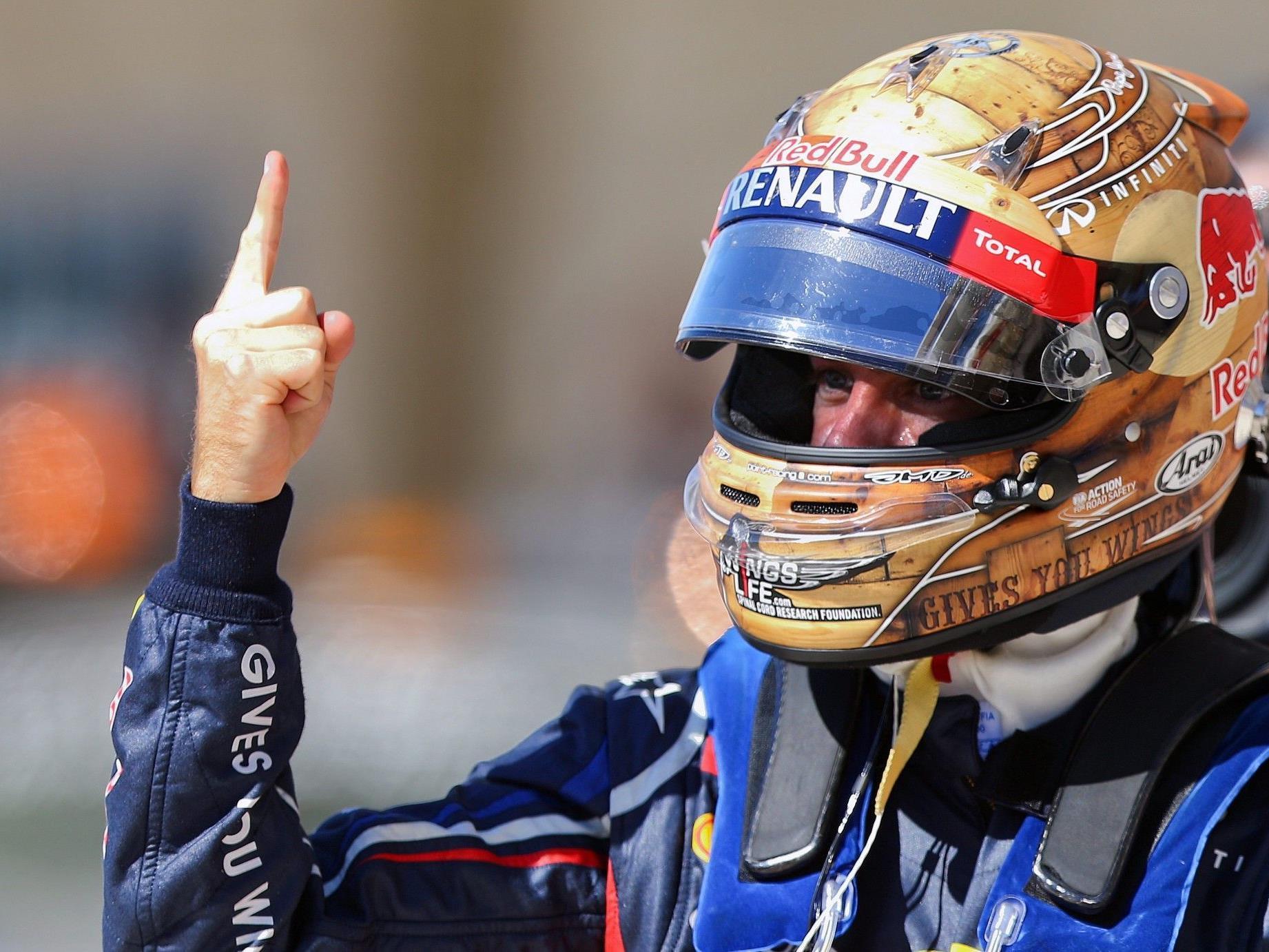 """Der """"Vettel-Finger"""": """"Super-Seb"""" kann in Austin bereits Weltmeister werden."""