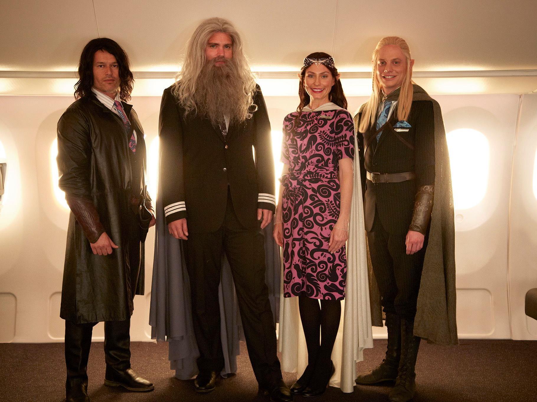 Gandalf und seine Crew bringen ihre Fluggäste zu den Drehorten des Hobbitfilms