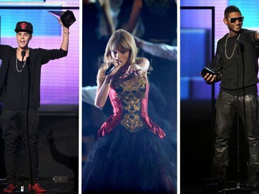 Justin Bieber, Taylor Swift und Usher dürfen sich über Auszeichnungen freuen.
