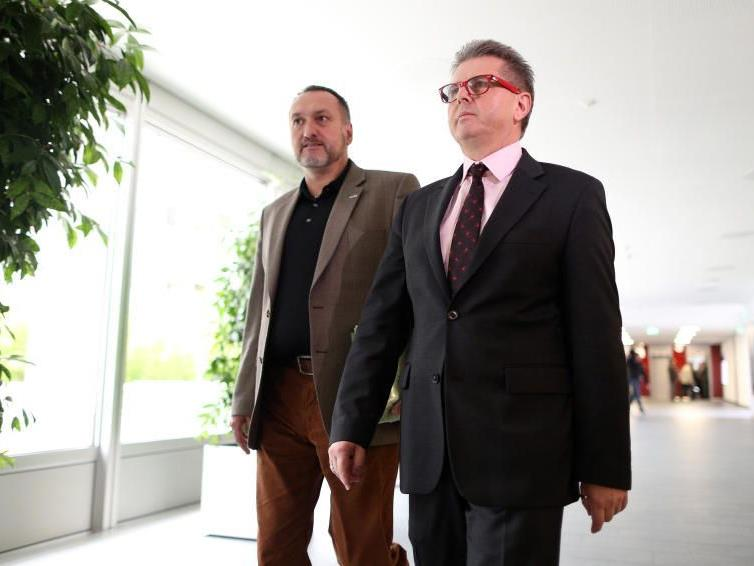 Manfred Wolf und Franz Georg Brantner (beide GPA) verhandeln heute weiter.