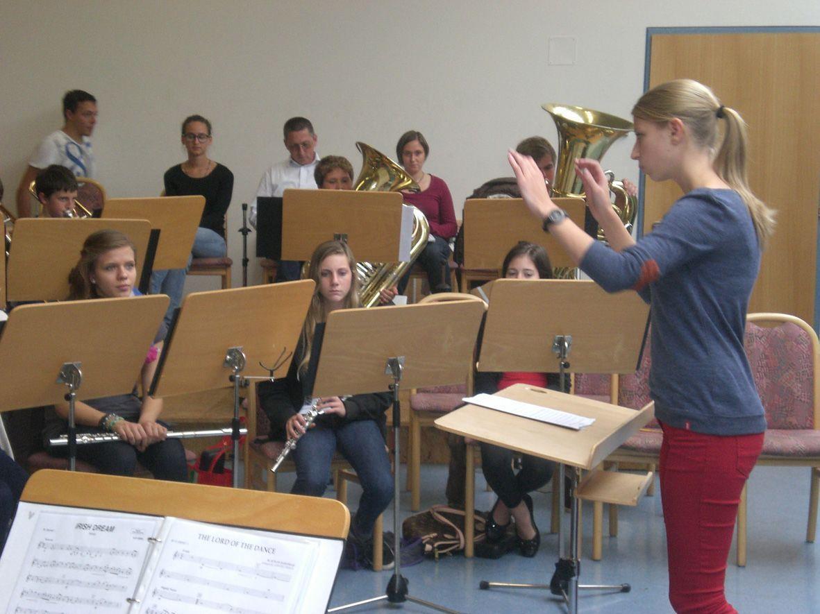 Der Dirigentennachwuchs der Hardis übte im Oktober fleißig.