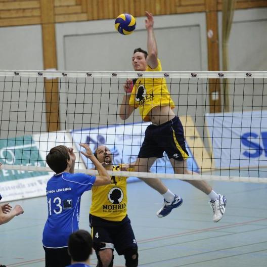 Ohne Punkte blieb der VC Wolfurt im Westderby in Innsbruck, 0:3-Niederlage in Mils.