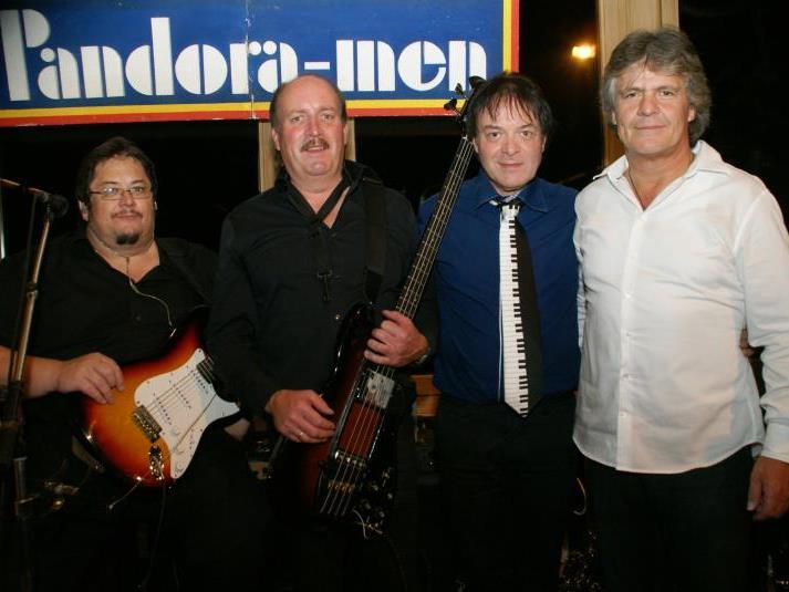 """Die """"Pandora-men"""" in Originalbesetzung: Franz Kohler, Manfred Abel, Klaus Abel und Marc Bell."""
