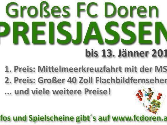 Beim FC Doren Preisjassen gibt es tolle Preise zu gewinnen!