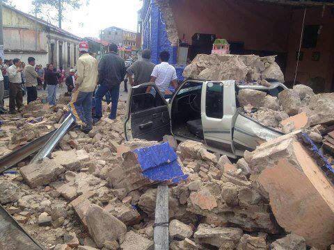 Schweres Beben in Guatemala - zwei Dutzend Menschen werden vermisst.