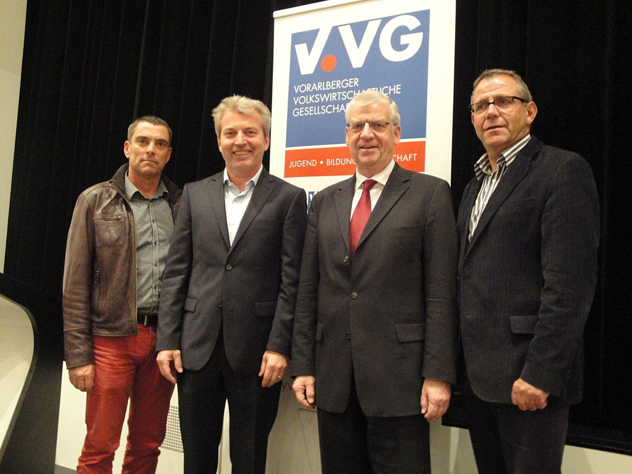 Michael Haim (VVG), Michael Winterhoff, Wolfgang Türtscher (ÖAAB-Lehrer), Eugen Lampert (GÖD).