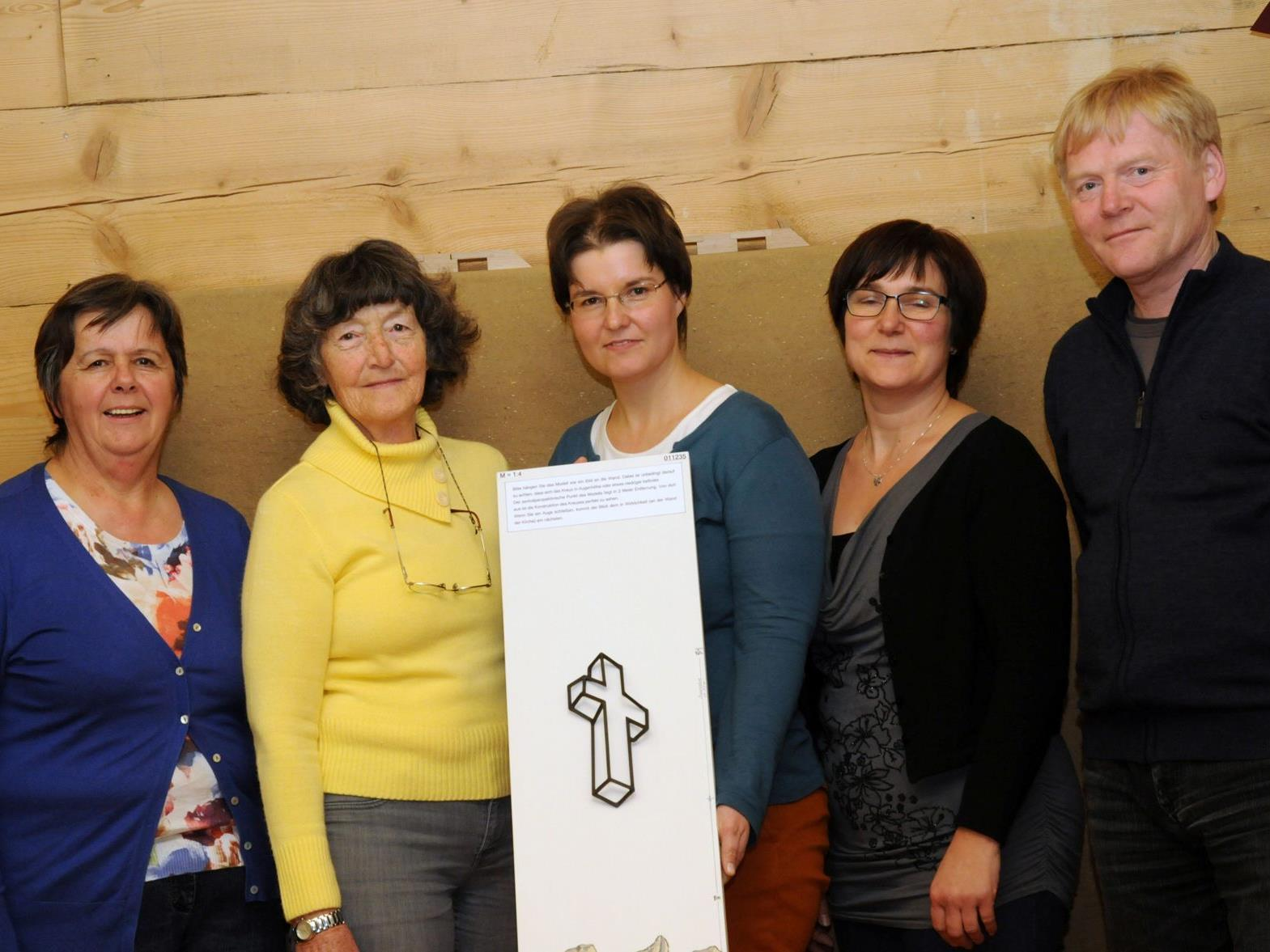 vl.li. Marlies Bouzo, Elisabeth Burtscher, Karin Bitschnau, Helga Konzett, Helmut Schlatter.