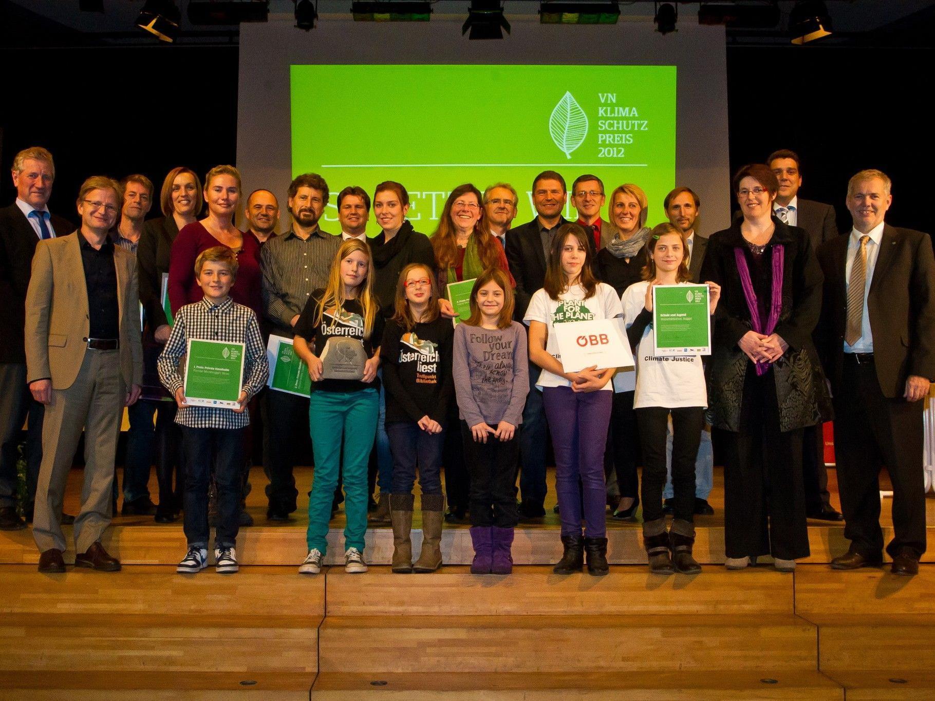Die Preisträger des VN-Klimaschutzpreises 2012.