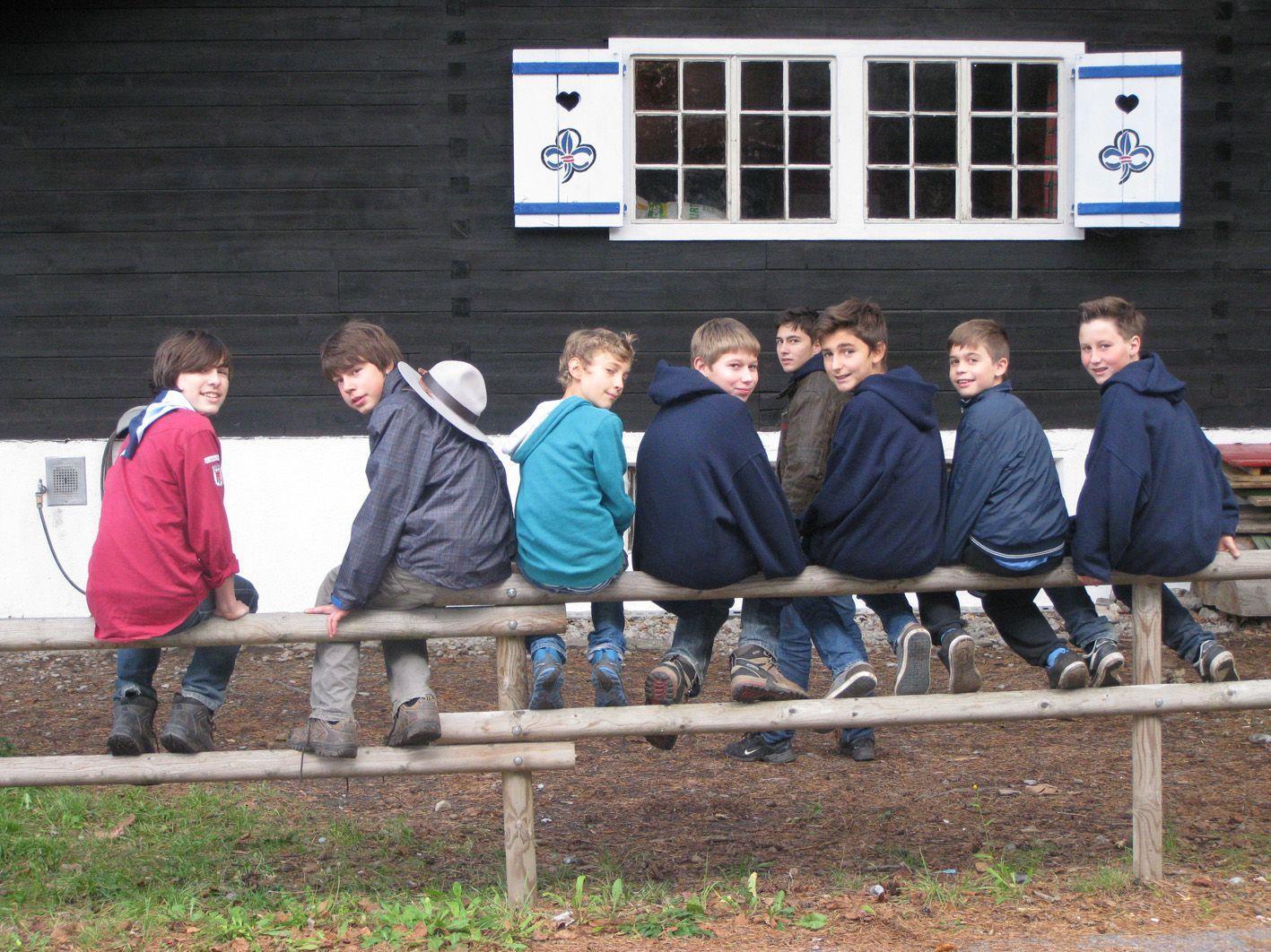 Die Jungs hatten viel Spaß im Lager.