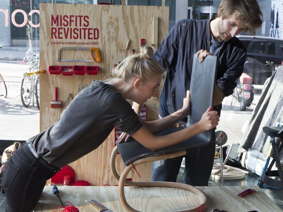 ArtDesign Workshop_misfits revisited_create your own thonet mit breadedEscalope & Thonet